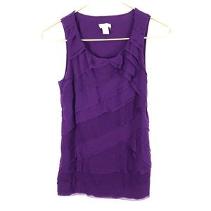 Chico's Asymmetrical Layered Tank Top